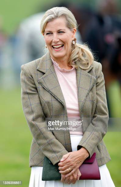 Sophie, Countess of Wessex visits the Westmorland County Show on September 9, 2021 in Milnthorpe, England.
