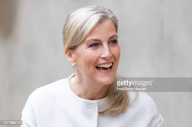 Sophie, Countess of Wessex visits Vauxhall City Farm on October 01, 2020 in London, England. Their Royal Highnesses see the farm's community...