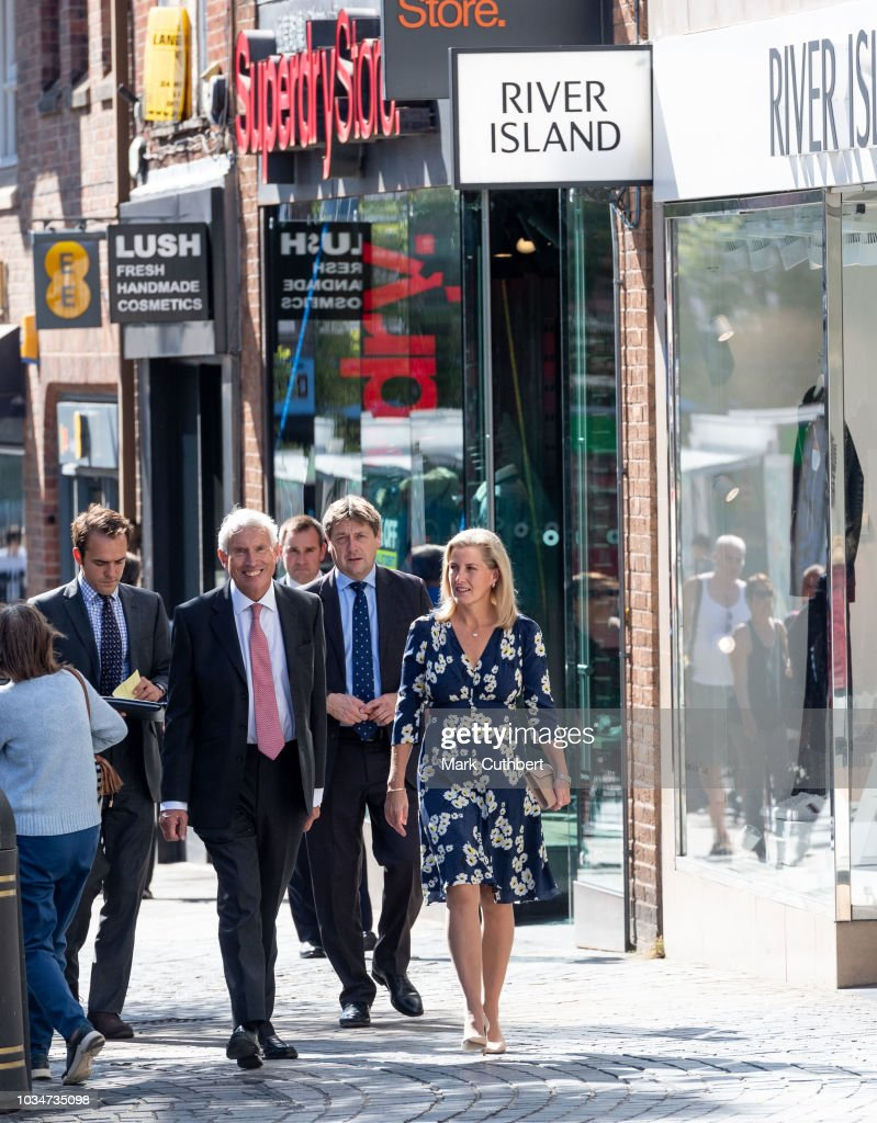 sophie-countess-of-wessex-walks-down-the-high-street-to-visit-daniel-picture-id1034735098