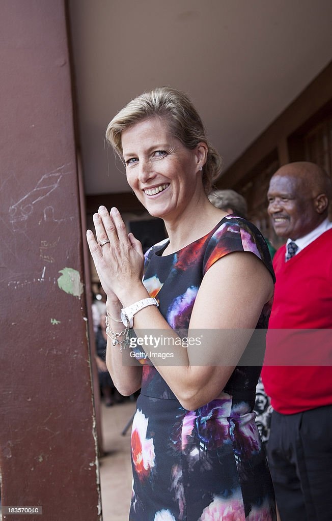 Sophie Countess of Wessex watches students perform at the Jabulile School on October 7, 2013 in Orange Farm, South Africa. The Earl and Countess of Wessex are on a week-long visit to South Africa in support of Prince Edwards work with The Duke of Edinburgh's International Award Foundation and South African President's Award for Youth Empowerment Trust.