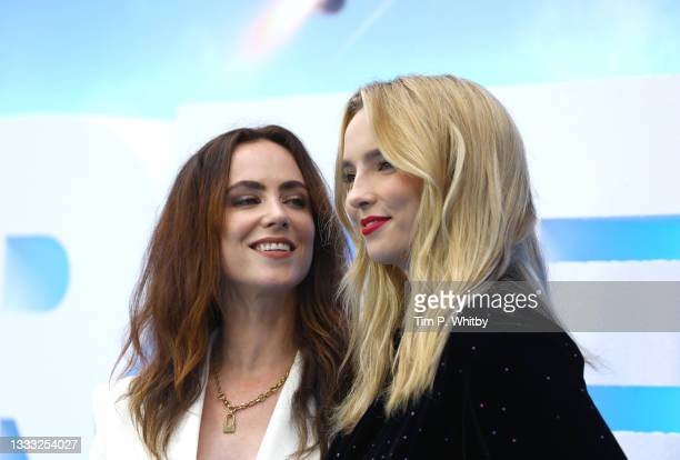Sophie Craig and Jodie Comer attend the UK Premiere of 20th Century Studios' Free Guy on August 09, 2021 in London, England.