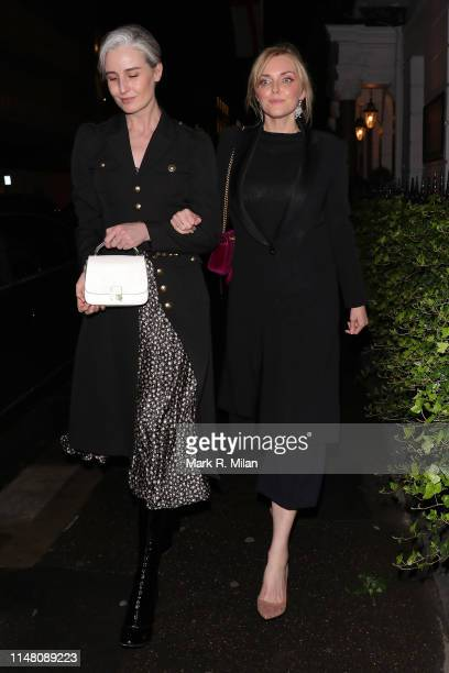 Sophie Dahl and companion attend a private dinner hosted by Michael Kors at Browns Hotel Mayfair on May 09 2019 in London England