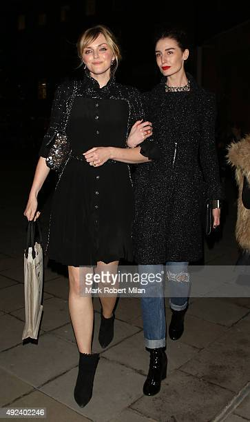 Sophie Dahl and Erin O'Connor attending the Chanel Exhibition Party at the Saatchi Gallery on October 12 2015 in London England