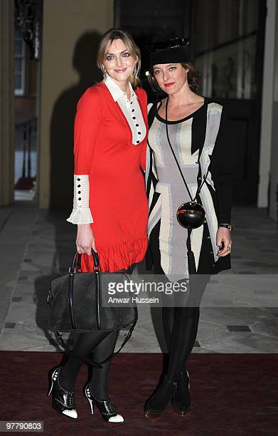 Sophie Dahl and fashion designer Alice Temperley arrive at a reception for the British Clothing Industry at Buckingham Palace on March 16 2010 in...