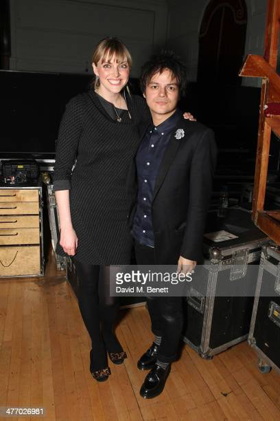 Sophie Dahl and Jamie Cullum attend the 'Kids Company Heart Of Gold' fundraising dinner at the Porchester Hall on March 6 2014 in London England
