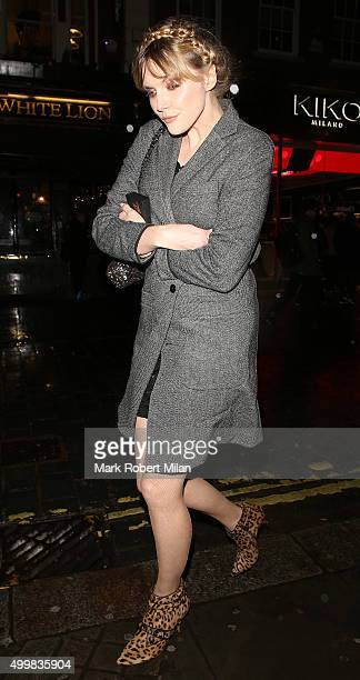 Sophie Dahl attending Charlotte Tilbury's naughty Christmas party celebrating the launch of Charlotte's new flagship beauty boutique in Covent Garden...