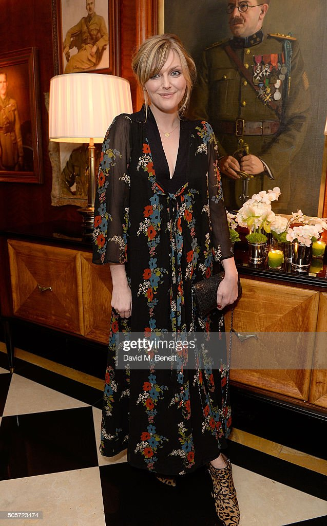Sophie Dahl attends a dinner in honour of Justine Picardie to celebrate the book 'Dior by Avedon' at the Beaumont Hotel on January 19, 2016 in London, England.