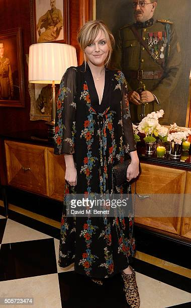 Sophie Dahl attends a dinner in honour of Justine Picardie to celebrate the book 'Dior by Avedon' at the Beaumont Hotel on January 19 2016 in London...