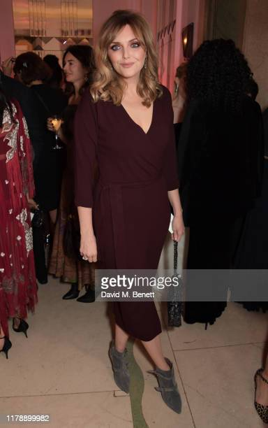 Sophie Dahl attends the Harper's Bazaar Women of the Year Awards 2019 in partnership with Armani Beauty at Claridge's Hotel on October 29 2019 in...
