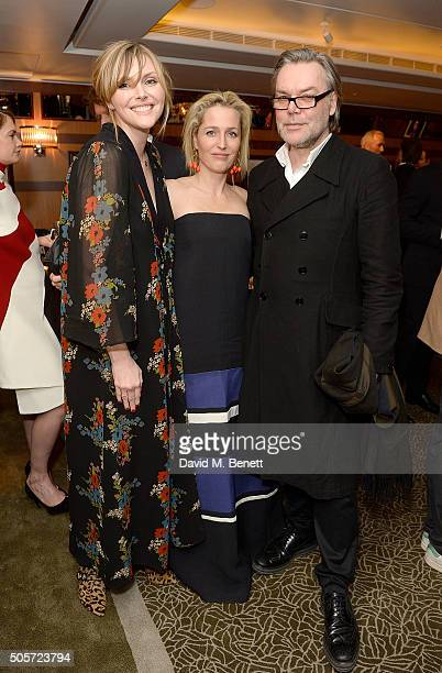 Sophie Dahl Gillian Anderson and David Downton attend a dinner in honour of Justine Picardie to celebrate the book 'Dior by Avedon' at the Beaumont...