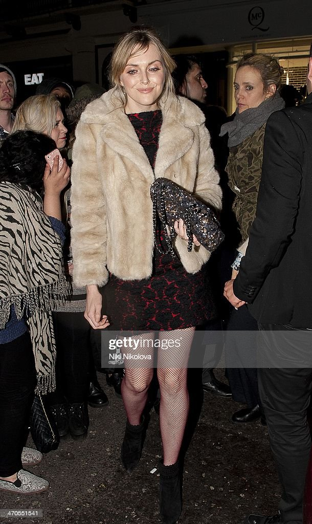 Sophie Dahl is seen arriving at the Sony party held at the Arts Club, Mayfair on February 19, 2014 in London, England.