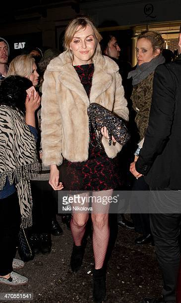 Sophie Dahl is seen arriving at the Sony party held at the Arts Club Mayfair on February 19 2014 in London England
