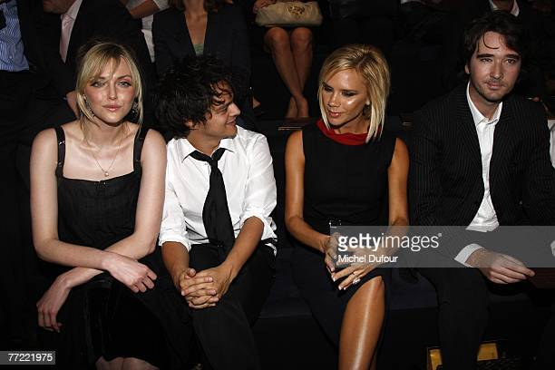 Sophie Dahl, Jamie Cullum, Victoria Beckham and Antoine Arnault attend the Louis Vuitton fashion show, during the Spring/Summer 2008 ready-to-wear...