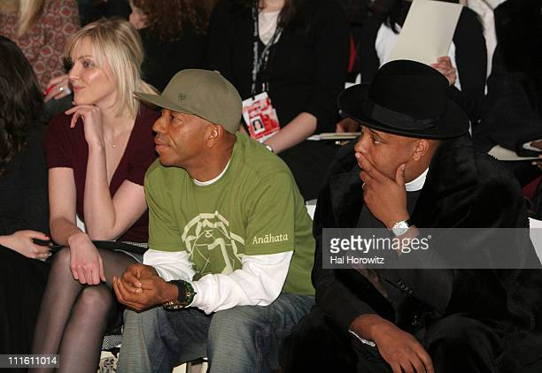 Sophie Dahl Russell Simmons and Reverend Run during Mercedes Benz Fashion Week Fall 2007 Temperley London Front Row and Backstage at The Promenade...