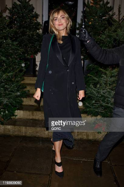 Sophie Dahl seen attending Evgeny Lebedev's Christmas Party at a private North London residence on December 13 2019 in London England