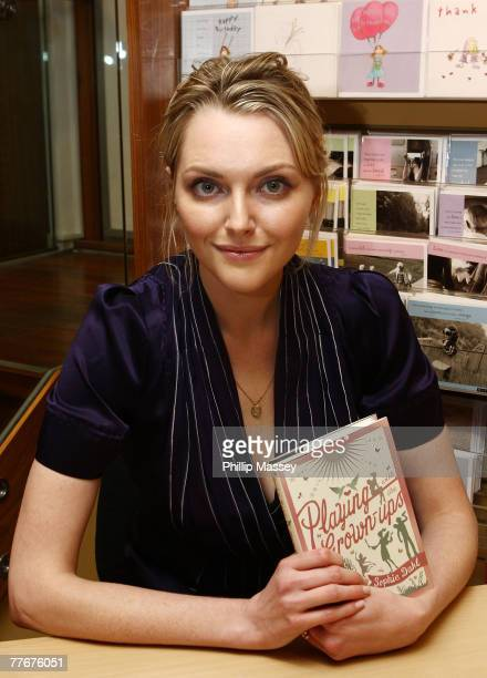 Sophie Dahl signs copies of her book Playing with the GrownUps in Dubray Books on November 4 2007 in Dublin Ireland