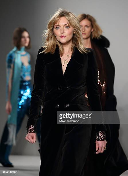Sophie Dahl walks the runway at the Temperley London show during London Fashion Week Fall/Winter 2015/16 at RIBA on February 22 2015 in London England