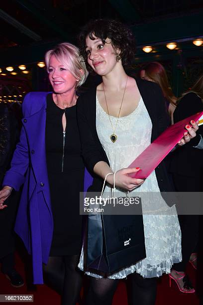Sophie Davant and Alice Zeniter attend La Closerie Des Lilas Literary Awards 2013 6th Edition At La Closerie Des Lilas on April 9 2013 in Paris France