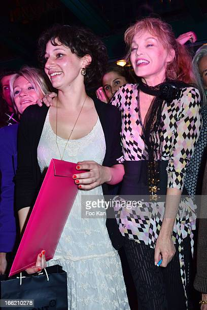Sophie Davant Lilas 2013 awarded writer Alice Zeniter and Arielle Dombasle attend La Closerie Des Lilas Literary Awards 2013 6th Edition At La...