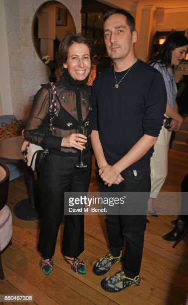 Sophie De Rougemont Carven CEO and Serge Ruffieux Carven Creative Director attend the Carven dinner hosted by new creative director Serge Ruffieux at...