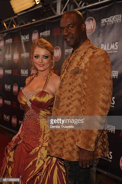 Sophie Dee and Lee Bang arrives at the 2010 AVN Awards at the Pearl at The Palms Casino Resort on January 9 2010 in Las Vegas Nevada
