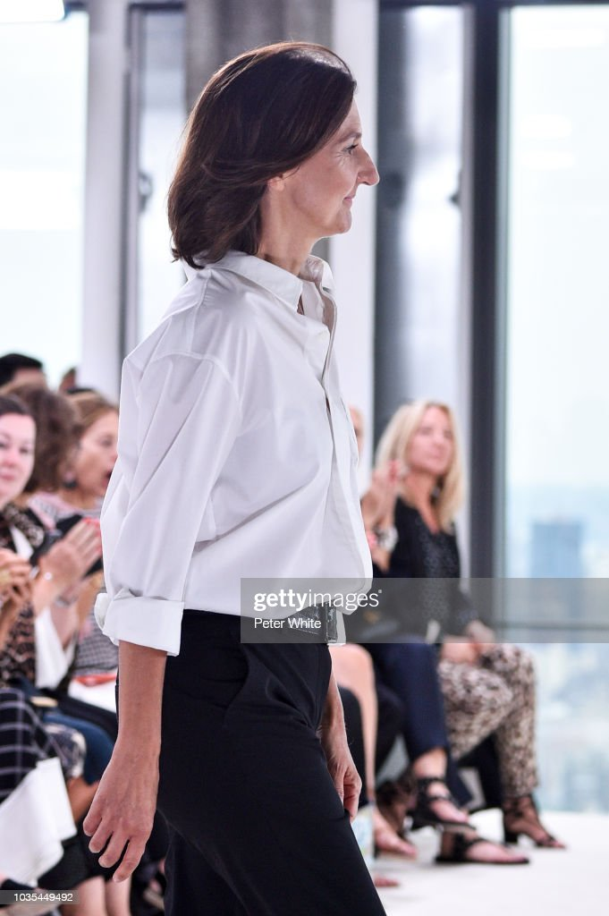 Sophie Delafontaine walks the runway at the Longchamp Spring/Summer 2019 fashion show during New York Fashion Week on September 8, 2018 in New York City.