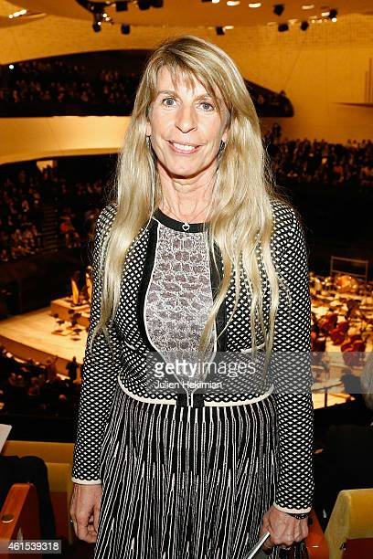 Sophie Dessus attends the Philharmonie De Paris Symphonic Concert Hall opening party on January 14 2015 in Paris France