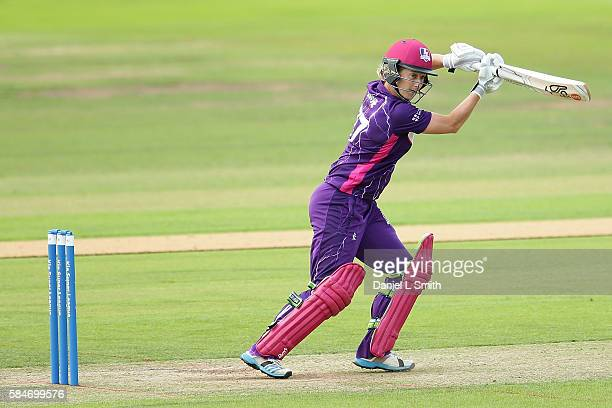 Sophie Devine of Loughborough bats during the inaugural Kia Super League women's cricket match between Yorkshire Diamonds and Loughborough Lightning...
