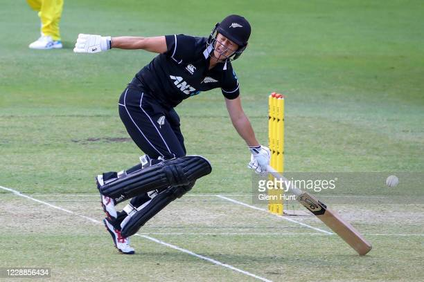 Sophie Devine of New Zealand in action during game one in the women's One Day International Series between Australia and New Zealand at Allan Border...