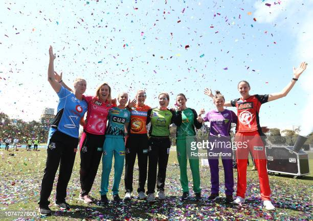 Sophie Devine of the Adelaide Heat Ellyse Perry of the Sydney Sixers Kirby Short of the Brisbane Heat Meg Lanning of the Perth Scorchers Alex...