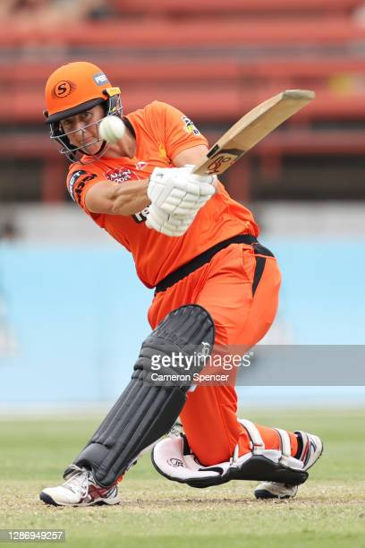 Sophie Devine of the Scorchers bats during the Women's Big Bash League WBBL match between the Perth Scorchers and the Adelaide Strikers at North...