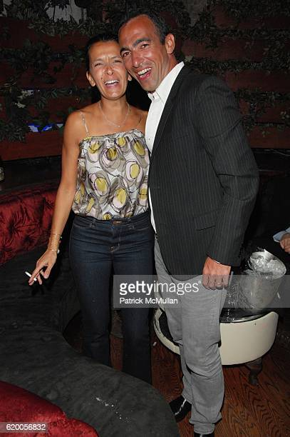Sophie Djorkaeff and Yuri Djorkaeff attend BYBLOS Anniversary Party at Pink Elephant NYC on February 19 2008
