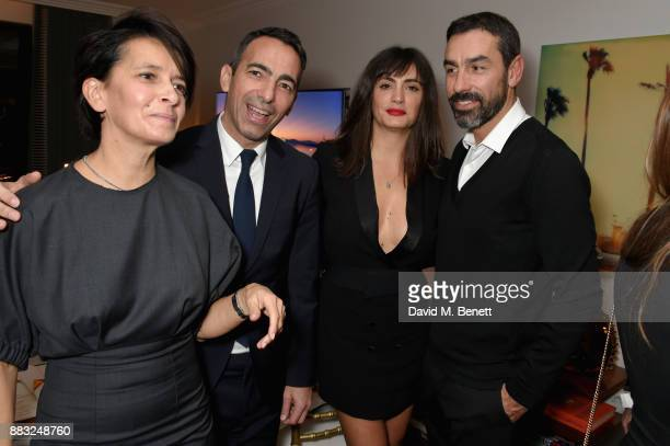 Sophie Djorkaeff Youri Djorkaeff Jessica LemariePires and Robert Pires attend as LOUIS XIII and Dylan Jones GQ Editor in Chief cohost Intimate Dinner...