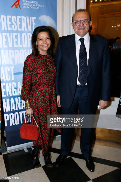 Sophie Douzal and lawyer Herve Temime attend the celebration of the 10th Anniversary of the Fondation Prince Albert II De Monaco at Salle Gaveau on...