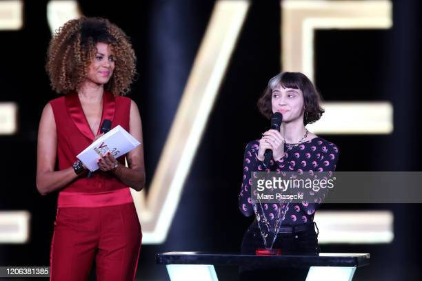 Sophie Ducasse and Pomme attend the 35th 'Les Victoires De La Musique' Show At La Seine Musicale on February 14 2020 in BoulogneBillancourt France