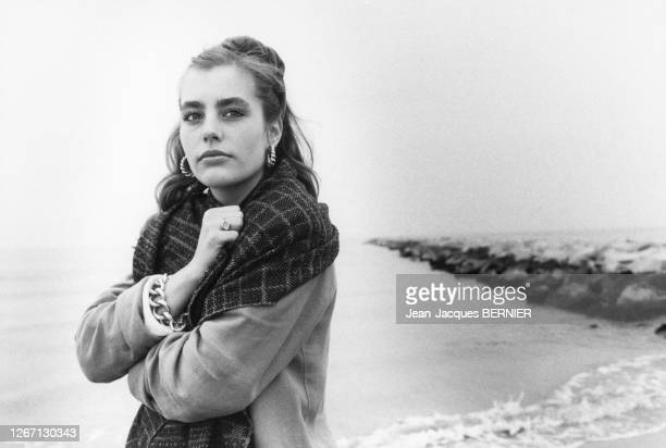 Sophie Duez à Aigues-Mortes, France en 1985.