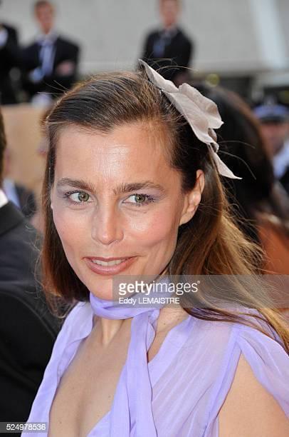 """Sophie Duez at the premiere of """"La Frontiere de l'Aube"""" during the 61st Cannes Film Festival."""