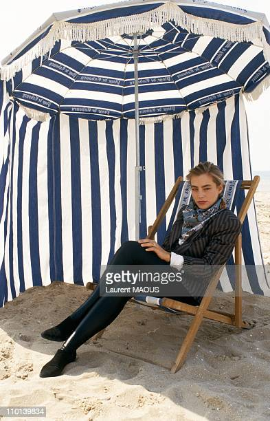 Sophie Duez in Cabourg France on January 6 1987