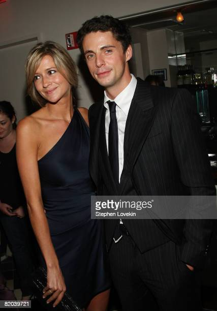 "Sophie Dymoke and actor Matthew Goode attend the after-party for ""Brideshead Revisited"" at the Gramercy Park Hotel July 22, 2008 in New York City."
