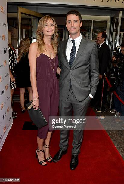 "Sophie Dymoke and actor Matthew Goode attend ""The Imitation Game"" premiere during the 2014 Toronto International Film Festival at Princess of Wales..."