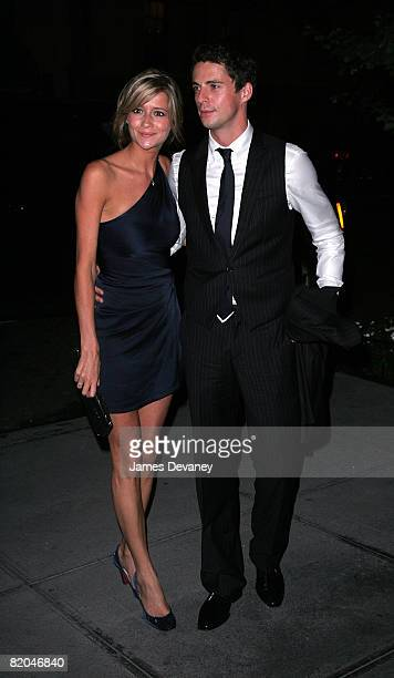 Sophie Dymoke and Mathew Goode seen on the streets of Manhattan on July 22 2008 in New York City