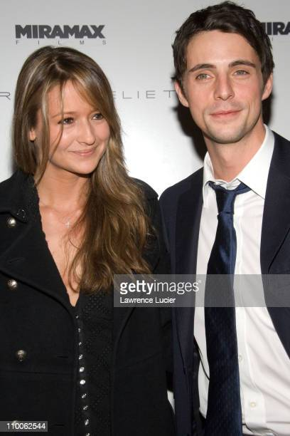 Sophie Dymoke and Matthew Goode during The Lookout New York Premiere Arrivals at Tribeca Cinemas in New York City New York United States