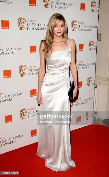 Sophie Dymoke arriving for the Orange British Academy Film Awards at The Royal Opera House London
