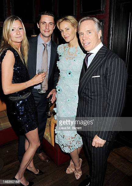 Sophie Dymoke, Matthew Goode, Dee Ocleppo and Tommy Hilfiger attend as Tommy Hilfiger hosts a cocktail party to celebrate the launch of London...