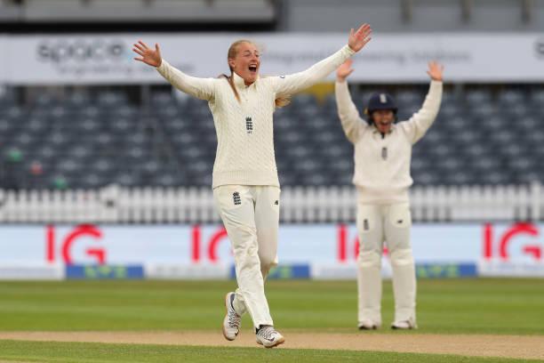 GBR: England Women v India Women - LV= Insurance Test Match: Day Three