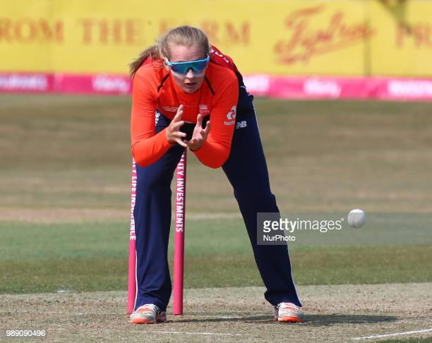Sophie Ecclestone of England Women during International Twenty20 Final match between England Women and New Zealand Women at The Cloudfm County Ground...