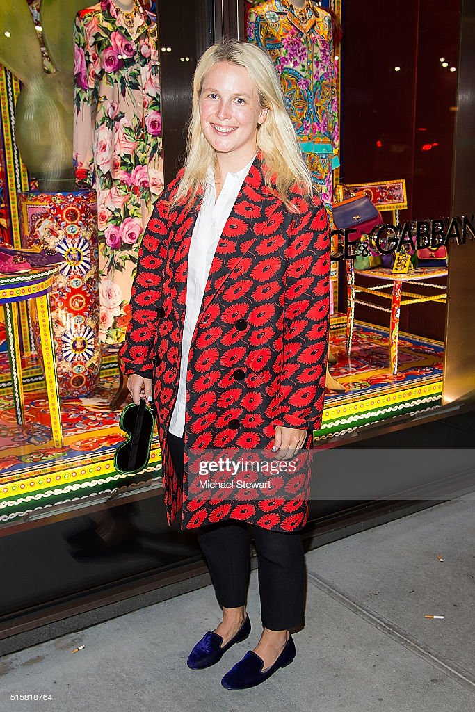 2fb77bc9 Sophie Elgort attends the Dolce & Gabbana Pyjama Party at Dolce ...