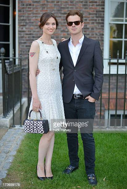 Sophie Ellis Bexter and Richard Jones attends the launch party for the Fashion Rules exhibition a collection of dresses worn by HRH Queen Elizabeth...