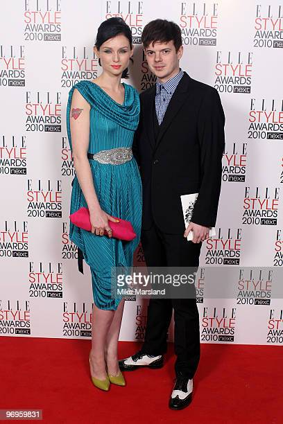 Sophie Ellis Bextor and her husband Richard Jones arrive for the ELLE Style Awards 2010 at the Grand Connaught Rooms on February 22 2010 in London...