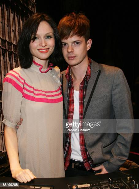 Sophie Ellis Bextor and her husband Richard Jones attend the grand opening of House Of Fraser at Westfield London on October 30, 2008 in London,...